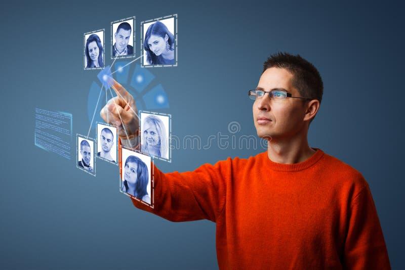 Социальная принципиальная схема сети бесплатная иллюстрация