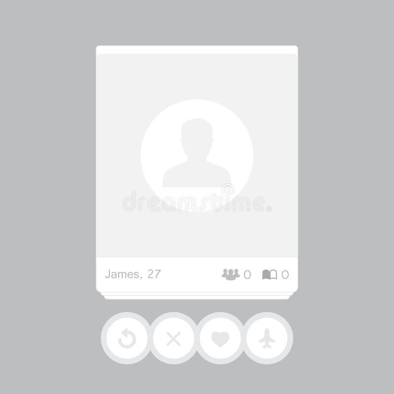 Социальная рамка столба сети для вашего фото также вектор иллюстрации притяжки corel бесплатная иллюстрация