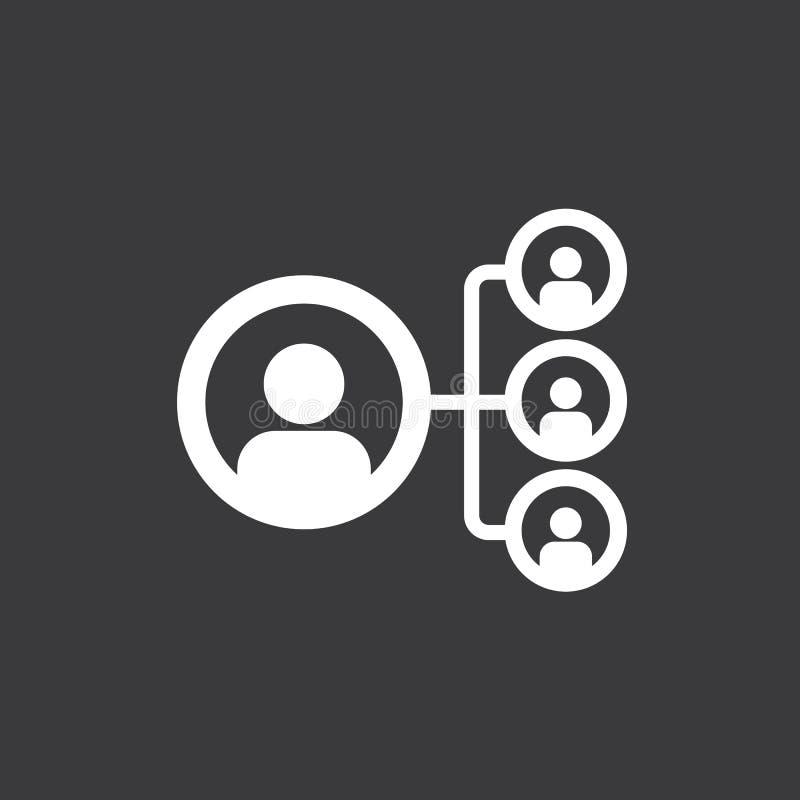 Социальные значок сети, сеть людей и иллюстрация команды Вектор, EPS 10 иллюстрация вектора