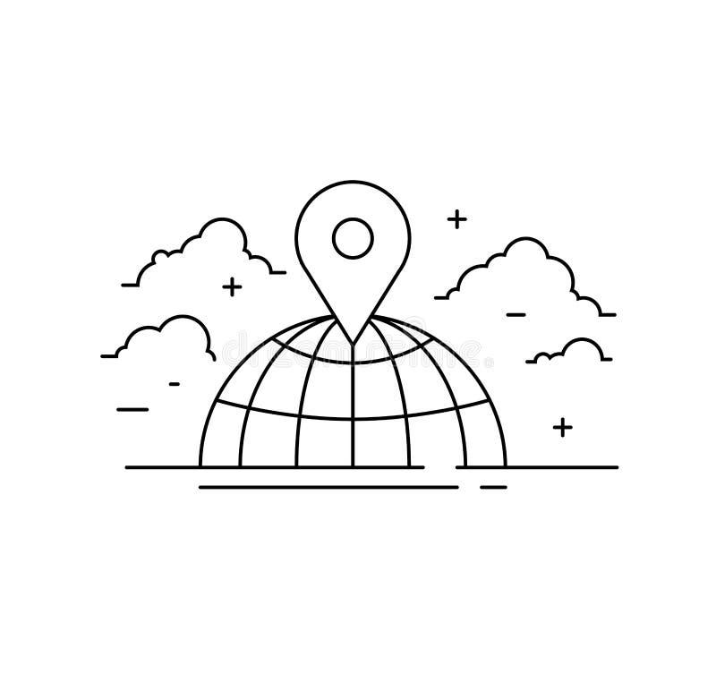 Социальные значок сети, сеть людей и иллюстрация команды иллюстрация штока