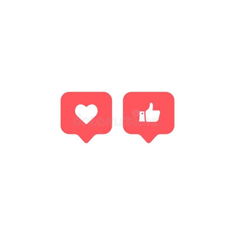 Социальные средства массовой информации Instagram современное как, следующий, красный цвет следующий, значок, символ, ui, приложе иллюстрация вектора