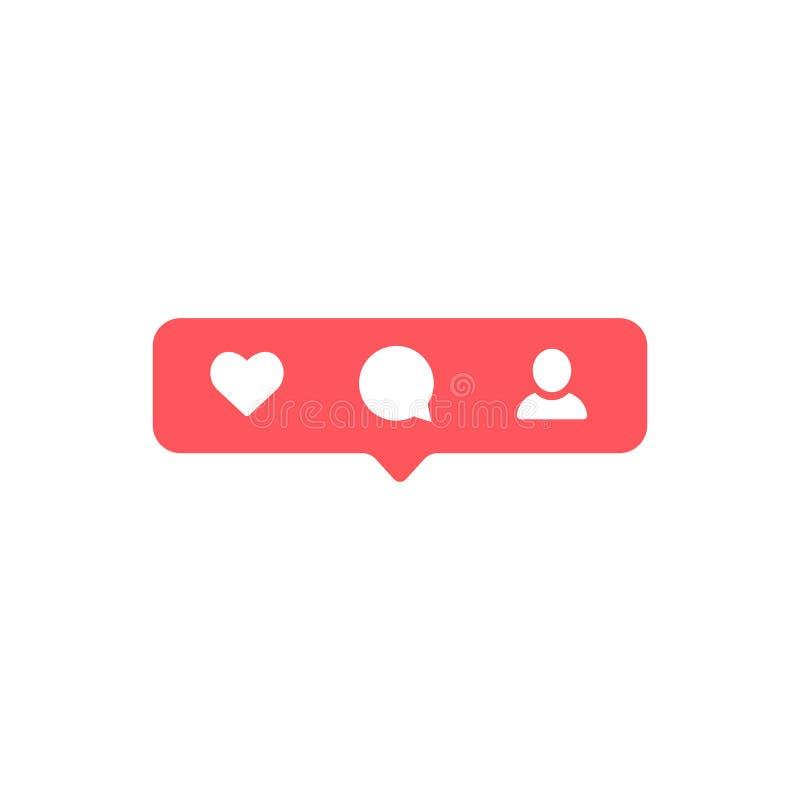 Социальные средства массовой информации Instagram современное как, следующий, красный цвет следующий, кнопка комментария, значок, иллюстрация штока