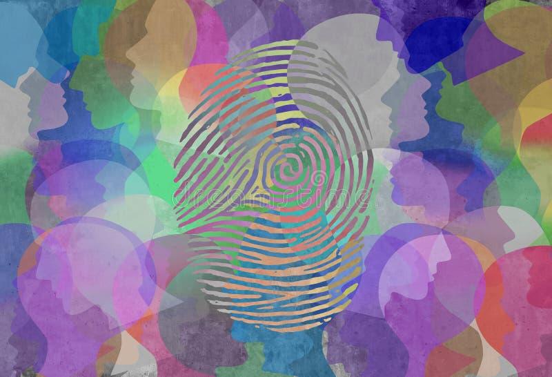 Социальный дизайн конспекта идентичности иллюстрация вектора
