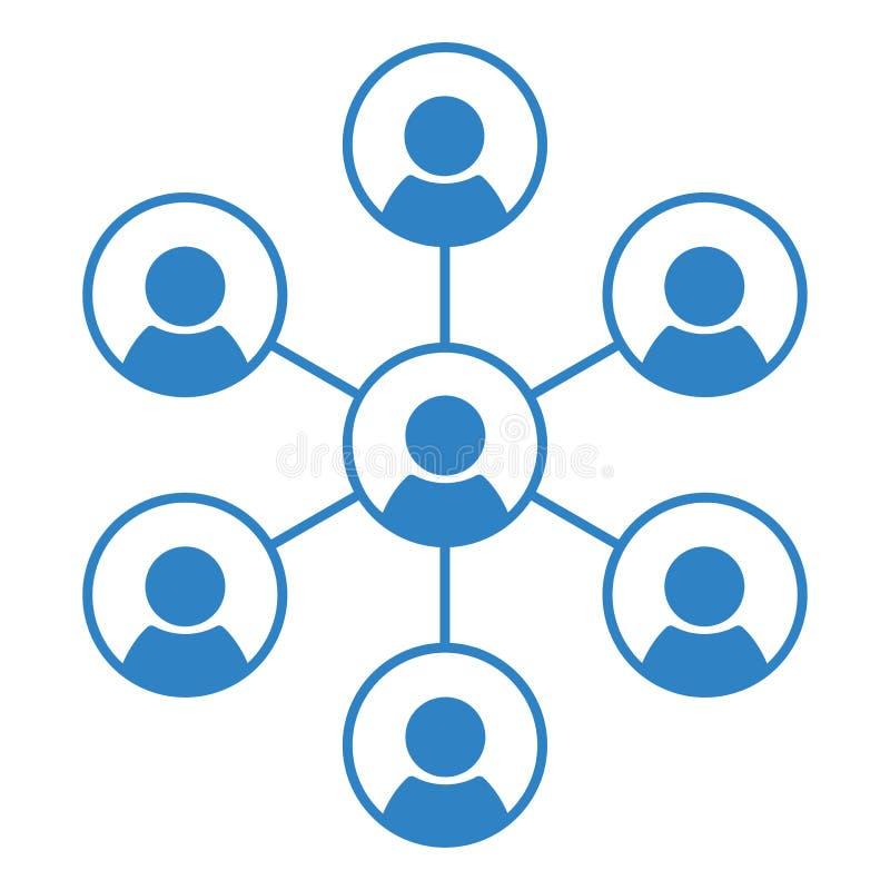 Социальный значок значка, команды и сыгранности людей сети r иллюстрация штока