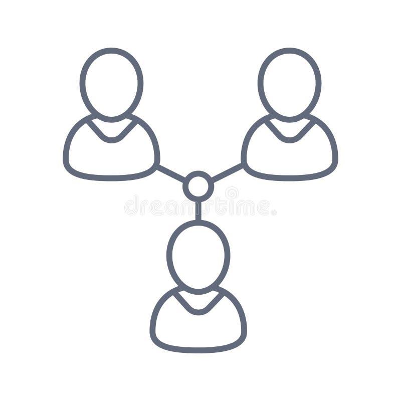 Социальный значок сети, иллюстрация сети людей o иллюстрация вектора