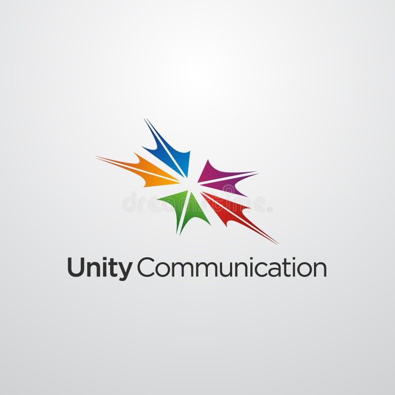 Социальный логотип отношения, община и другая организация иллюстрация штока