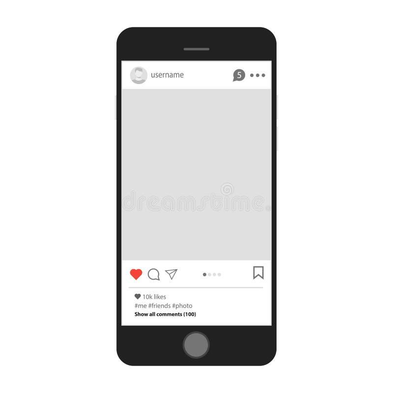 Социальный профиль сети на smartphone Связь интернета и социальная сеть на вашей таблетке бесплатная иллюстрация
