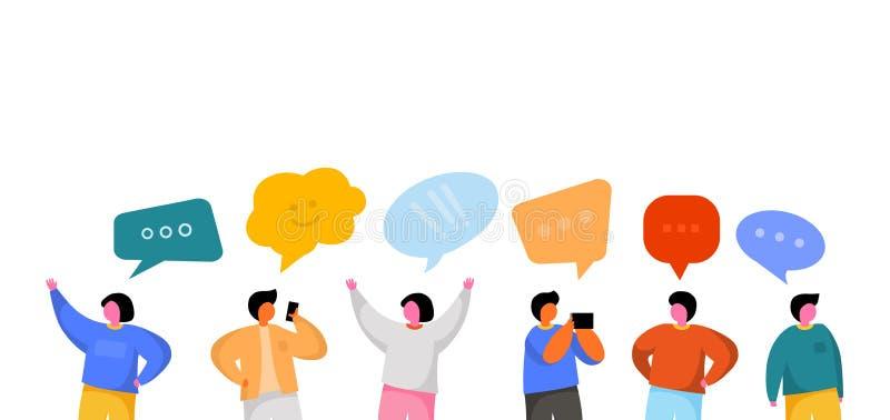 Социальный шаблон сети r Виртуальная концепция связи бесплатная иллюстрация