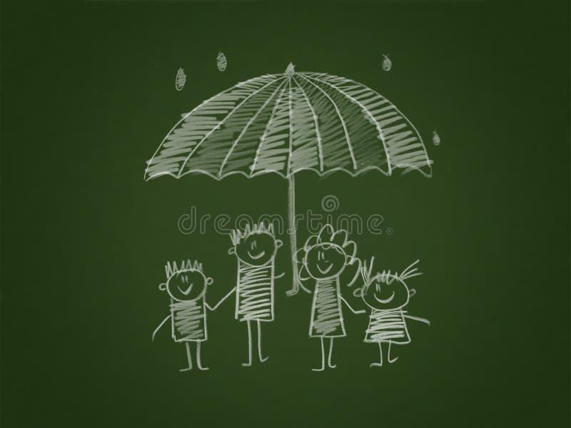 Социальная защита семьи иллюстрация вектора