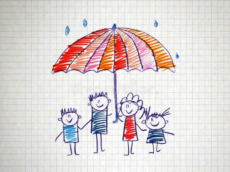 Социальная защита семьи иллюстрация штока