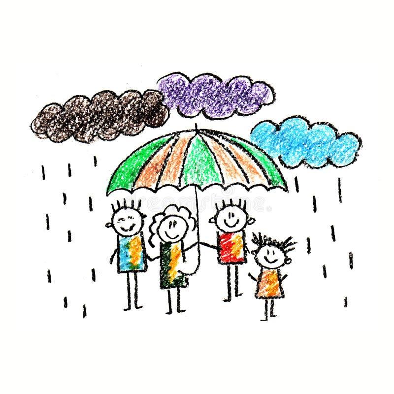 Социальная защита семья счастливая бесплатная иллюстрация