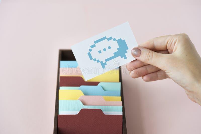 Социальная концепция значка болтовни блога средств массовой информации стоковая фотография