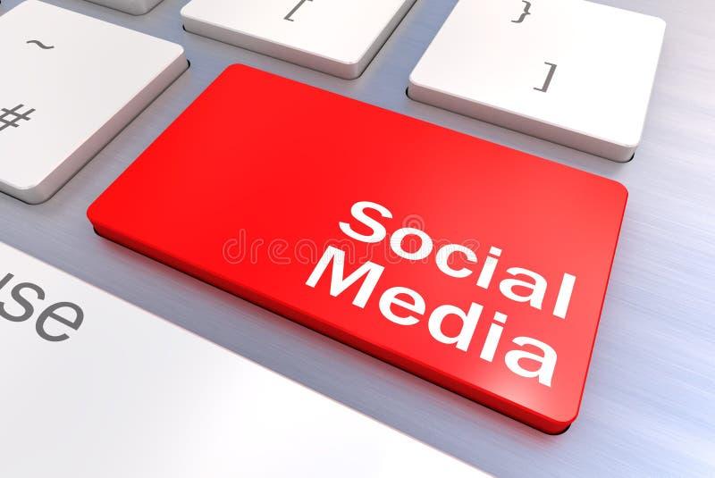 Социальная концепция клавиатуры средств массовой информации иллюстрация вектора