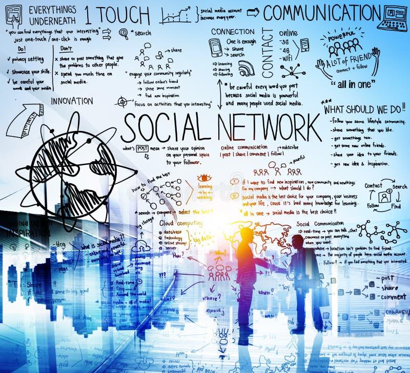 Социальная концепция доски технологии средств массовой информации сети стоковое фото