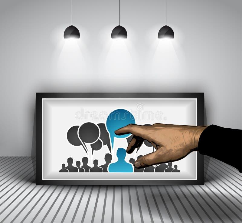 Социальная предпосылка концепции Infographic средств массовой информации иллюстрация вектора
