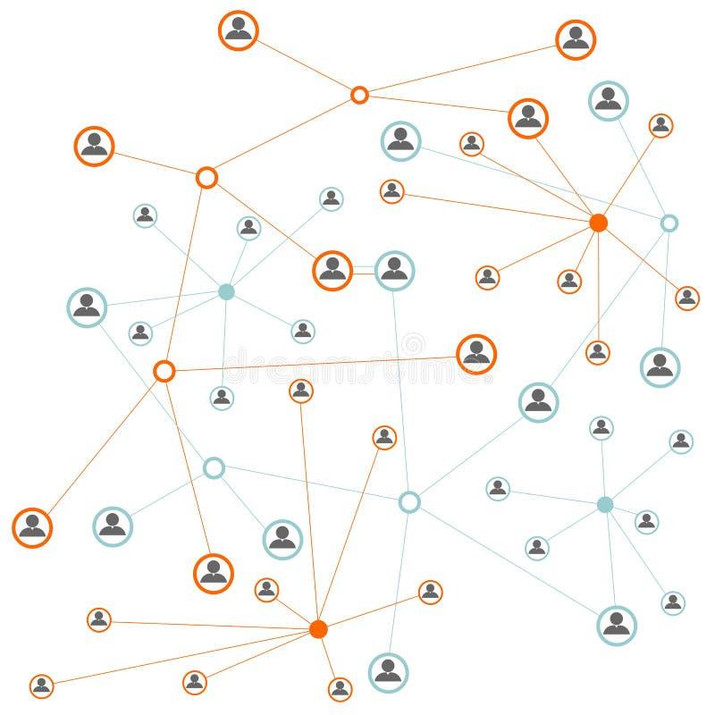 Социальная принципиальная схема сети иллюстрация штока
