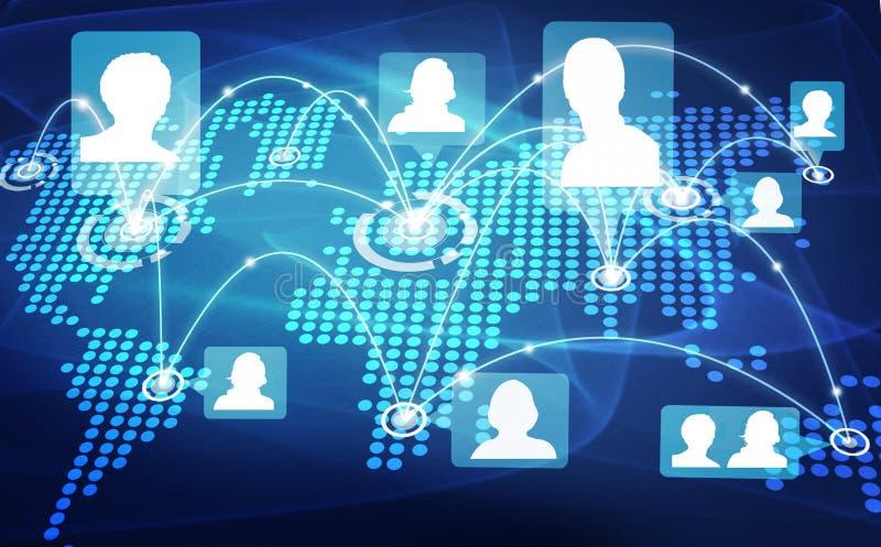 Социальная схема сети бесплатная иллюстрация