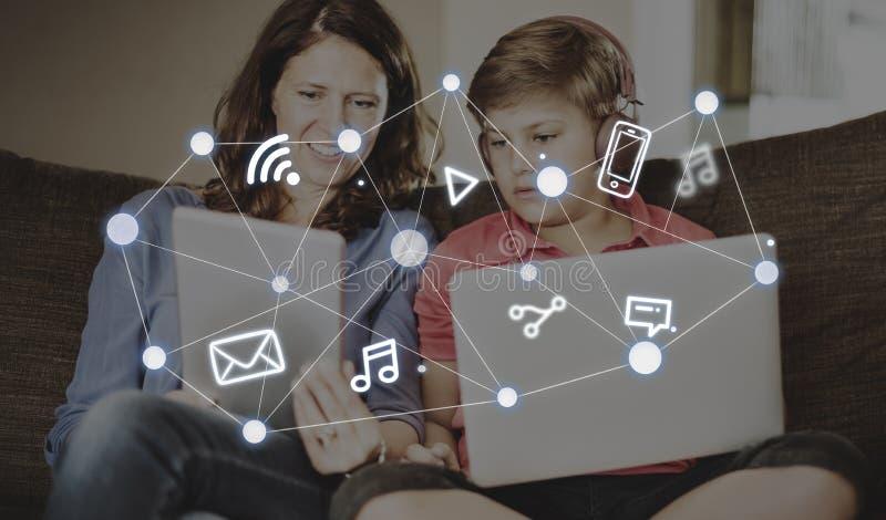 Социальное соединение Co технологии глобальных связей сети стоковое изображение rf