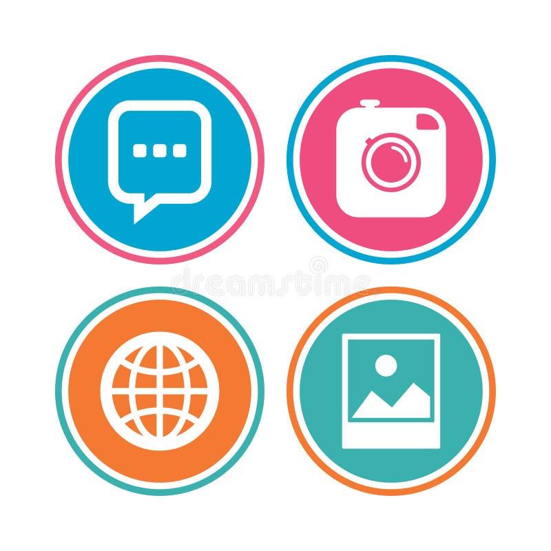 Download Социальные значки средств массовой информации Пузырь и глобус речи болтовни Иллюстрация вектора - иллюстрации насчитывающей badged, фото: 81805851