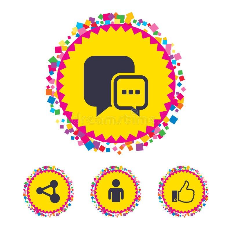 Download Социальные значки средств массовой информации Пузырь и доля речи болтовни Иллюстрация вектора - иллюстрации насчитывающей комплект, ярлык: 81805847