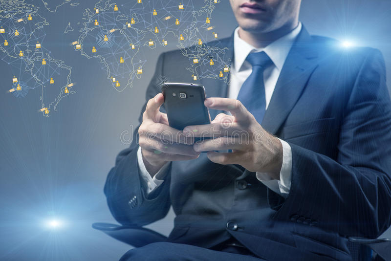 Социальные сети и концепция взаимодействий онлайн стоковая фотография rf