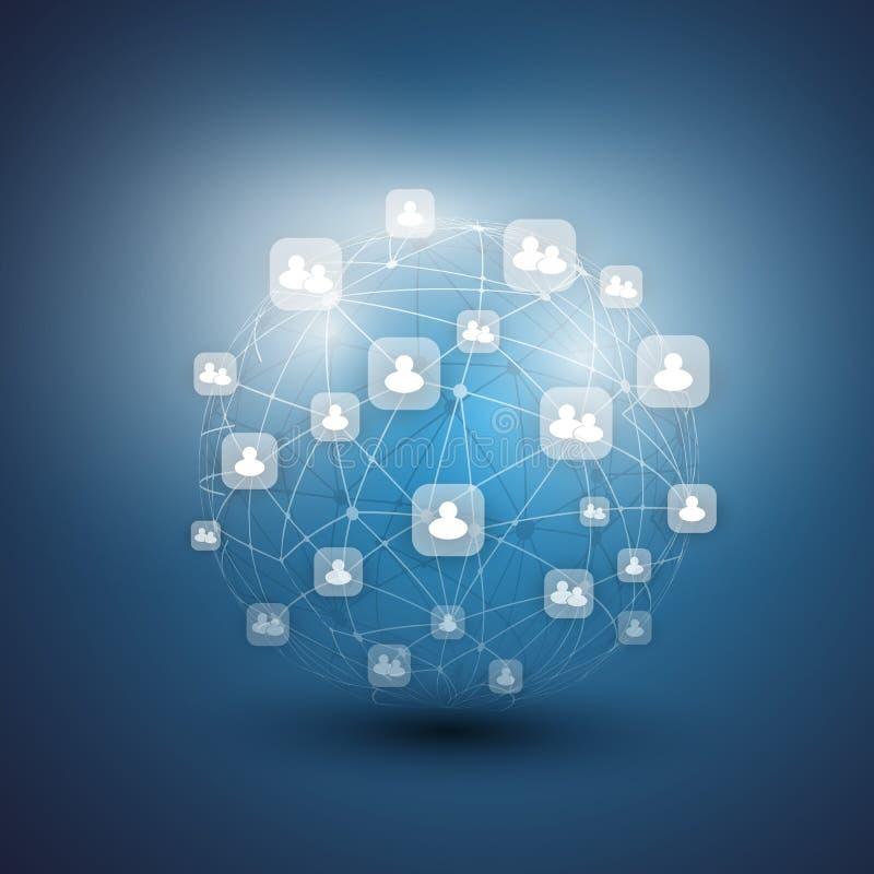 Социальные сети - иллюстрация вектора дела бесплатная иллюстрация