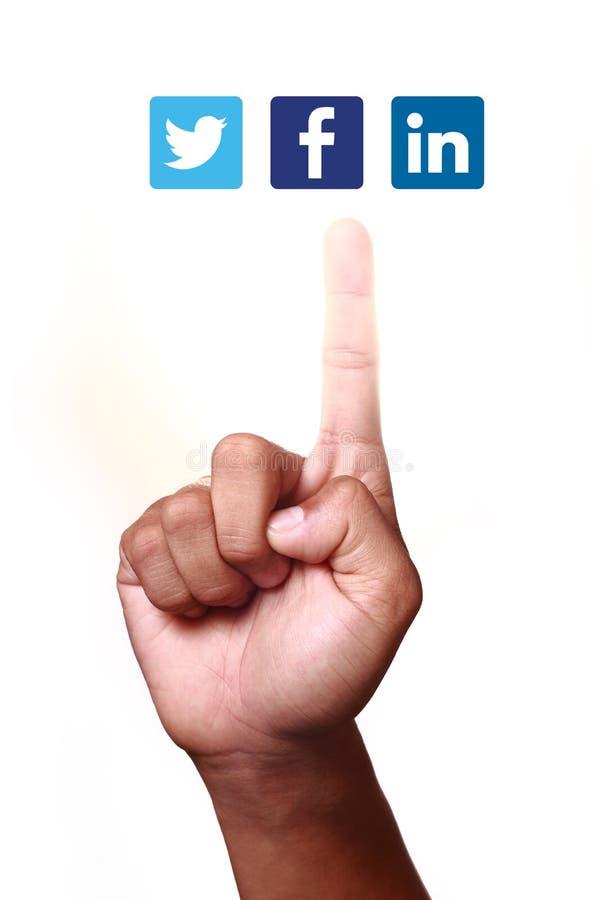 Социальные сети стоковое изображение