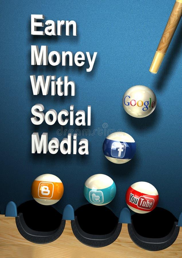 Социальные средства массовой информации - заработайте деньги бесплатная иллюстрация