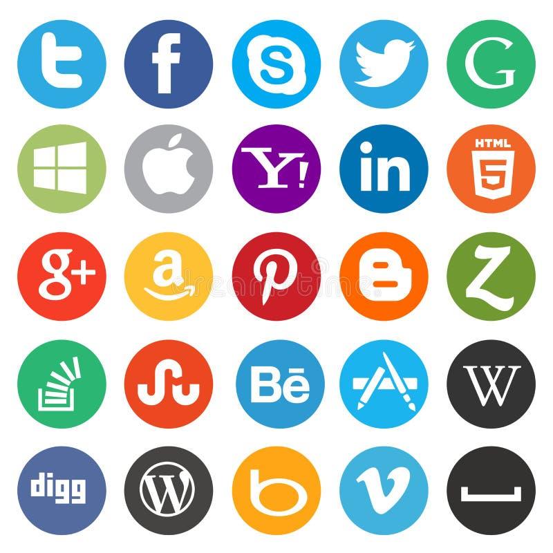 Социальные средства массовой информации/значок сети бесплатная иллюстрация