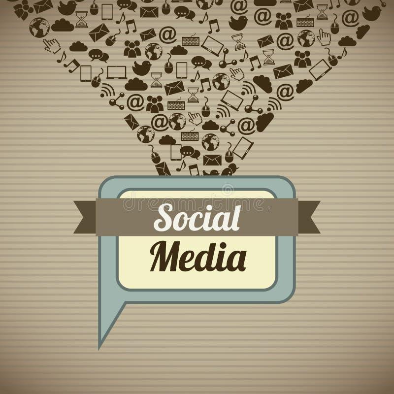 Социальные средства массовой информации иллюстрация вектора
