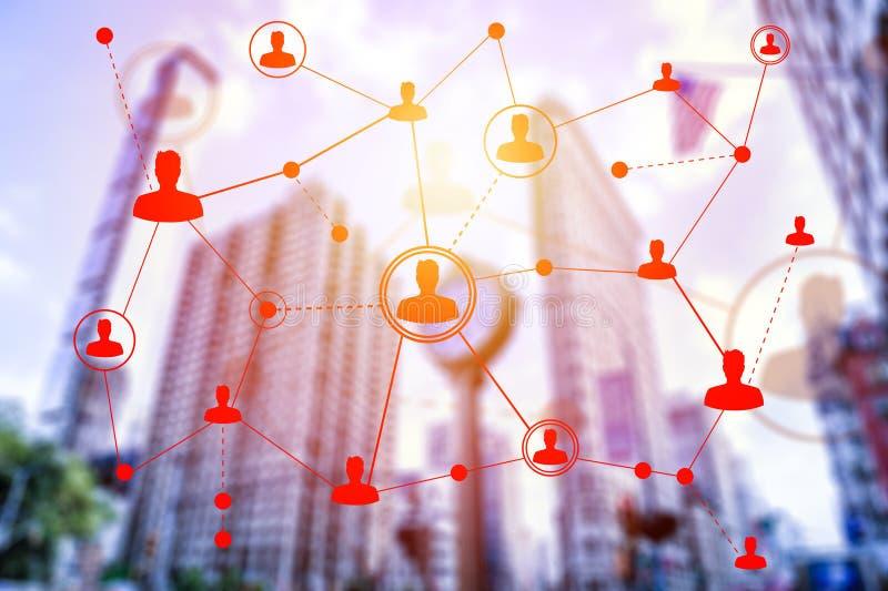 Социальные технологии сети в Нью-Йорке стоковое фото