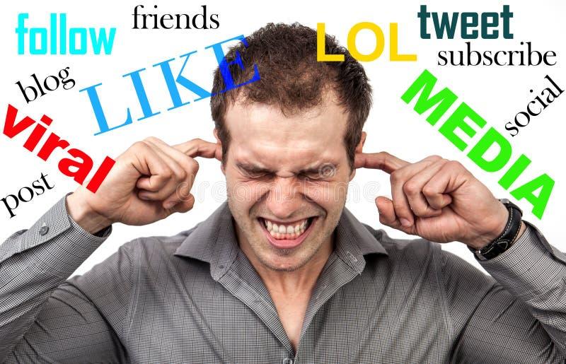 Социальный стресс средств массовой информации стоковые фото