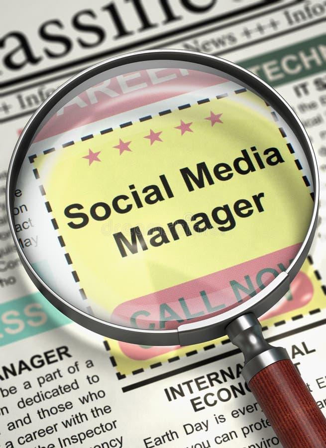 Социальный хотят менеджер средств массовой информации, который 3d стоковое изображение