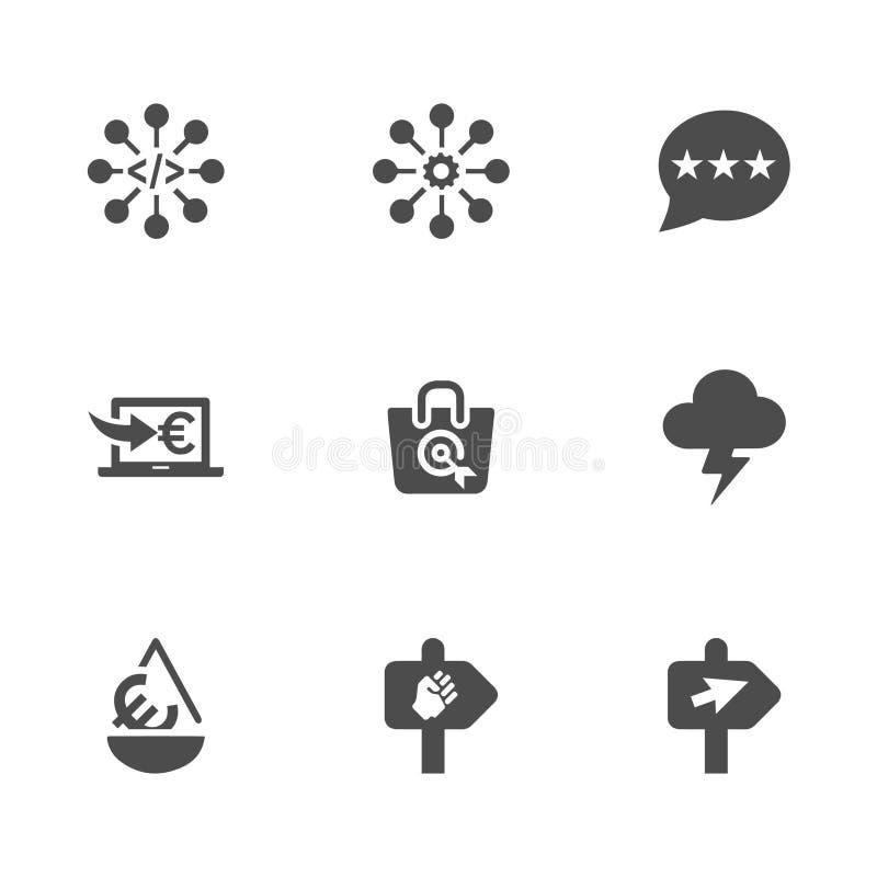 9 социальных значков дела бесплатная иллюстрация