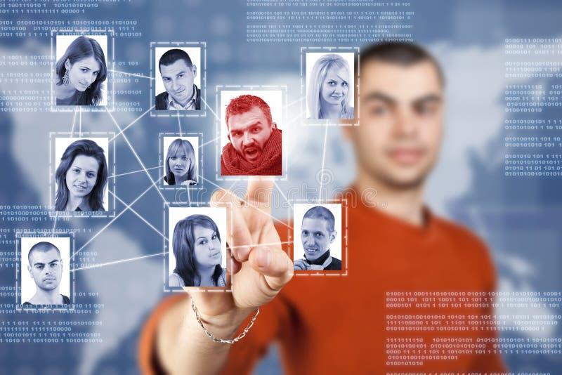 сочиальная структура сети стоковые фото