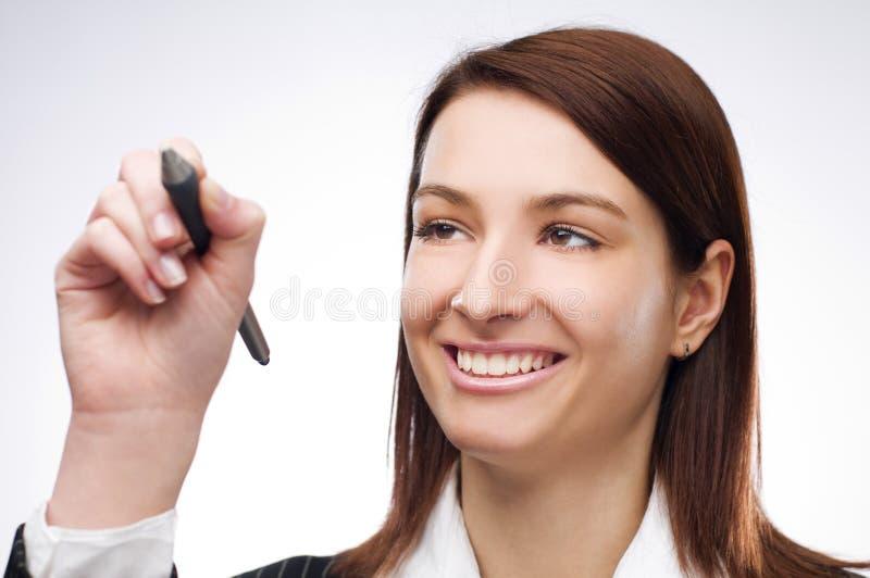 сочинительство женщины стоковое изображение rf
