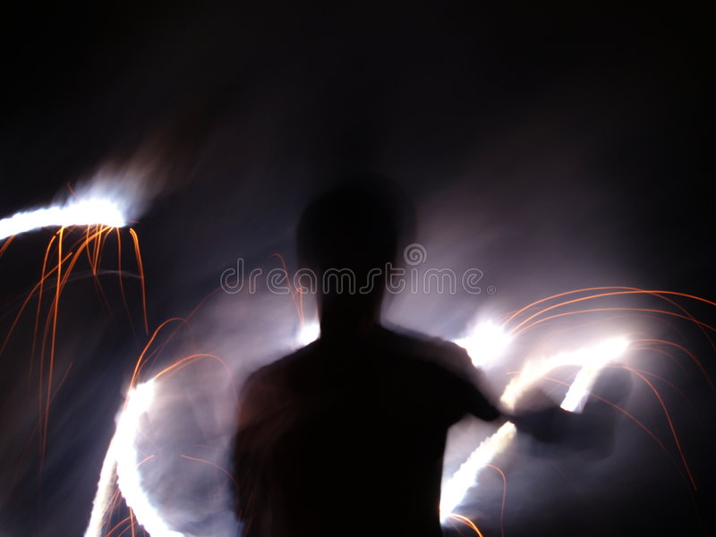 сочинительство ночи пожара стоковая фотография