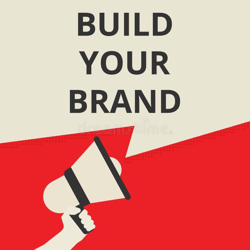 сочинительство текста строит ваш бренд бесплатная иллюстрация