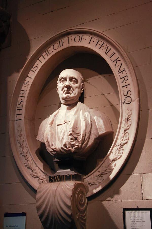 сочинитель Jonathan Swift бюста тягчайший стоковое изображение rf