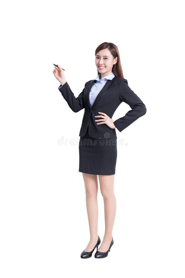 Сочинительство бизнес-леди стоковые фотографии rf