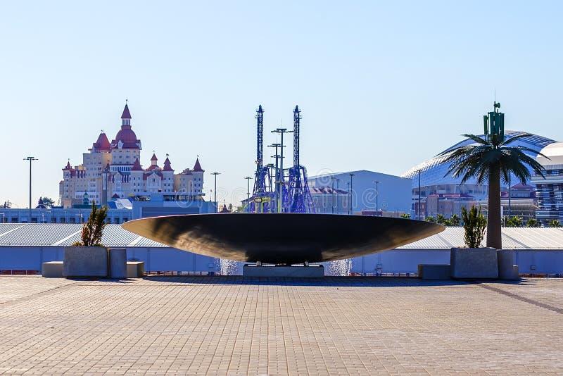 Сочи олимпийский парк Объекты и привлекательности стоковое фото