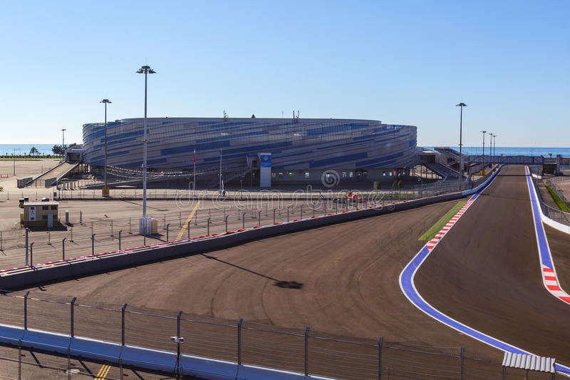 Сочи олимпийский парк Формула цепи стоковое изображение rf