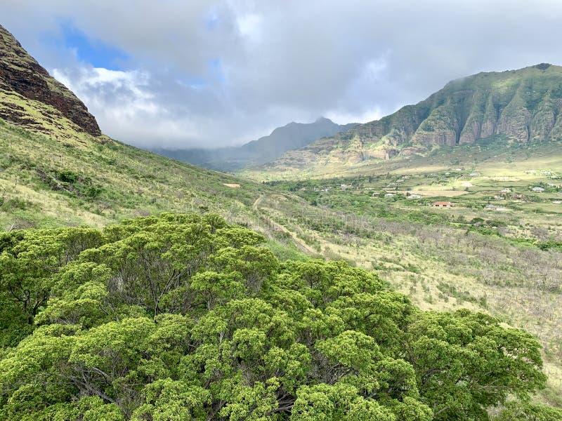 Сочная долина Makaha в Гаваи стоковое фото