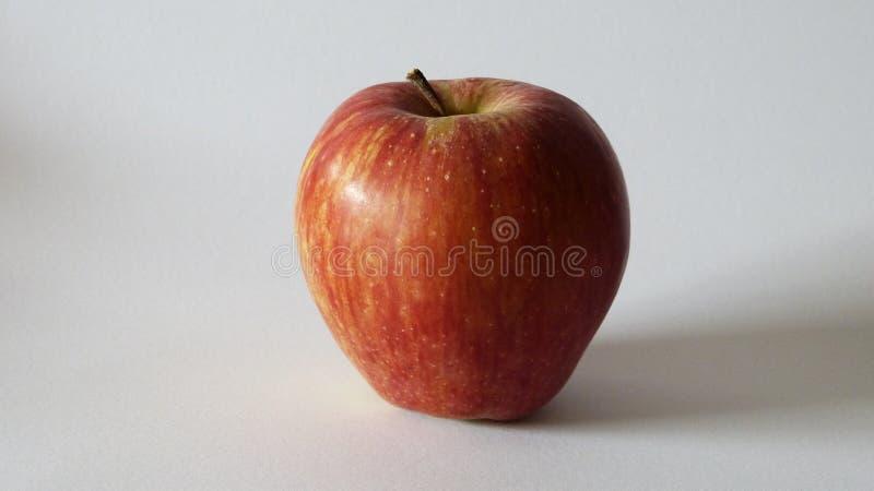 Сочное большое красное яблоко Один плодоовощ стоковая фотография rf