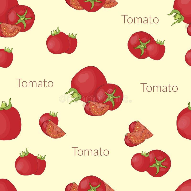 Сочные томаты в винтажном стиле, handmade стиле, стиле мультфильма с оформлением иллюстрация штока