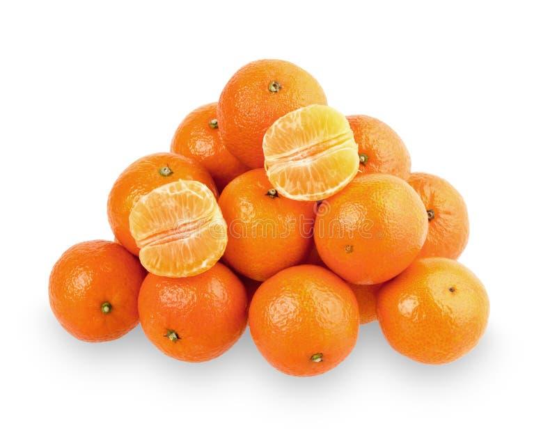 Сочные tangerines изолированные на белой предпосылке стоковое изображение rf