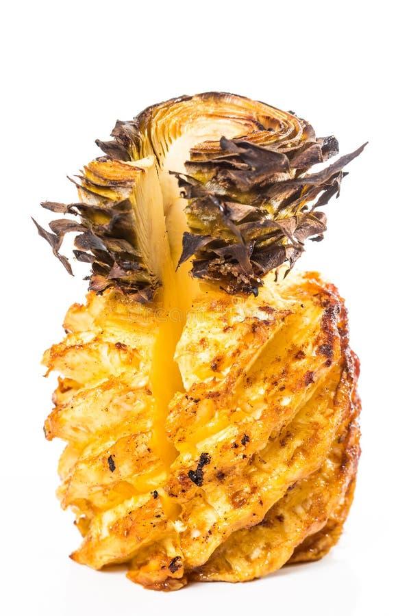 Сочный зажаренный ананас Конец-вверх стоковое изображение