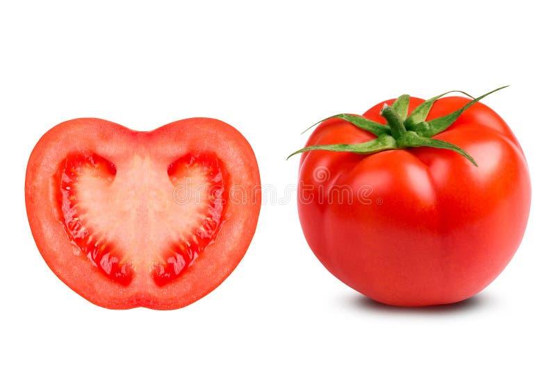 Сочный конец-вверх томата на белой предпосылке стоковая фотография