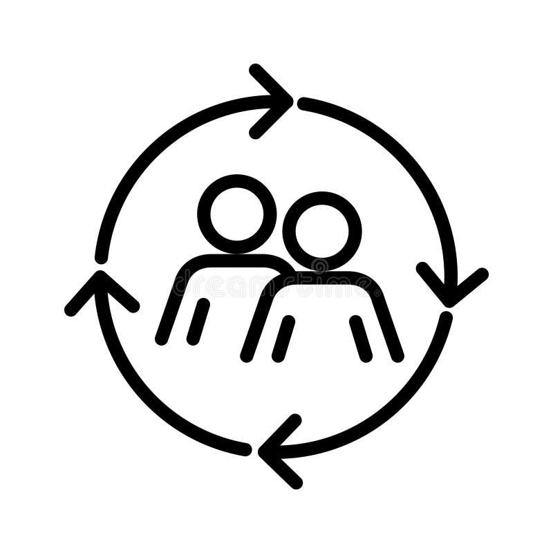 Сошлитесь значок, иллюстрация вектора иллюстрация вектора