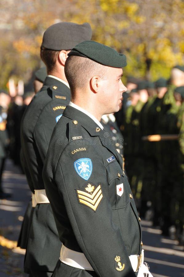 Солдаты канадцев стоковые изображения
